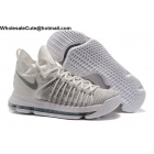 wholesale Nike Zoom KD 9 Elite White Silver Mens Basketball Shoes