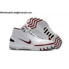 wholesale Nike Air Zoom Generation White Crimson Mens Basketball Shoes