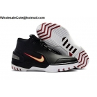 wholesale Mens Nike Air Zoom Generation Black White Crimson Basketball Shoes
