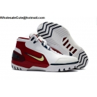 wholesale Mens Nike Air Zoom Generation First Game Basketball Shoes White Rede