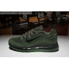wholesale Nike Air Max 2018 Elite Army Mens Running Shoes Green Black