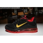 wholesale Nike Air Max 2018 Elite Mens Running Shoes Black Gold Red