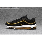 Mens Nike Air Max 97 Size US7 - US13 Black White Gold