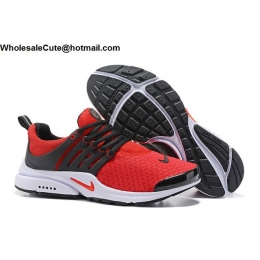 Nike Air Presto Mens Running Shoes Red Black White
