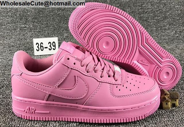buy popular 8e595 338a1 Womens Nike Air Force 1 Low All Pink AF1 Shoes -15115 ...