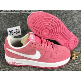 Womens Nike Air Force 1 Low Pink White AF1 Shoes
