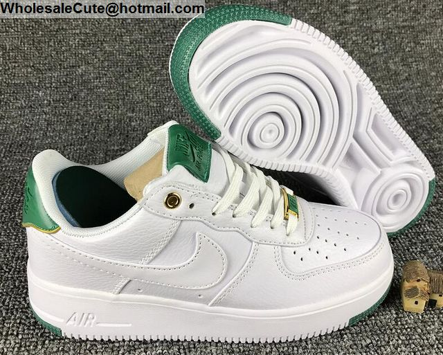 Mens   Womens Nike Air Force 1 Low White Green AF1 Shoes -15123 ... 27f0ff18e