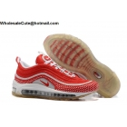 Womens Nike Air Max 97 Running Shoes Red White