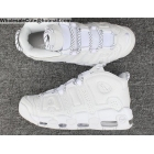 Mens & Womens Nike Air More Uptempo 96 Triple White Shoes