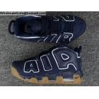 wholesale Mens & Womens Nike Air More Uptempo Obsidian White Gum