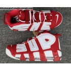 Mens & Womens Supreme Nike Air More Uptempo Suptempo Red White Shoes