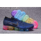 wholesale Mens Nike Air VaporMax Be Ture Navy Rainbow Running Shoes