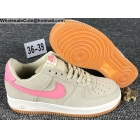 Womens Nike Air Force 1 Low Beige Pink White AF1 Shoes