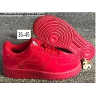 wholesale Mens & Womens Nike Air Force 1 Low 07 All Red Shoes
