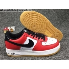 wholesale Mens Nike Air Force 1 Low Chicago White Red Black Shoes