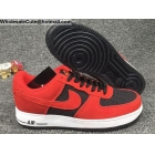 wholesale Mens Nike Air Force 1 Low Suede Red Black White