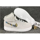 Mens Nike Air Force 1 Mid Grey White