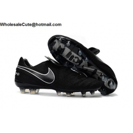 Mens Nike Tiempo Legend VI FG Black White Shoes