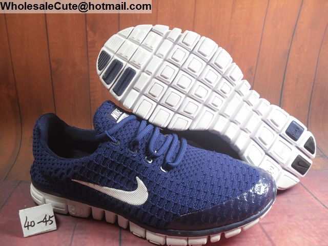 bf072f3ad918 Mens Nike Free 3.0 Flyknit Dark Blue White Running Shoes -15216 ...