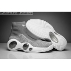 wholesale Mens Nike Zoom Flight Bonafide Cool Grey White Basketball Shoes