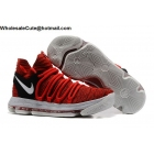Mens Nike Zoom KD 10 University Red Basketball Shoes