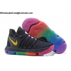 wholesale Mens Nike Zoom KD 10 Be True Rainbow Basketball Shoes