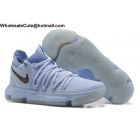 Mens Nike Zoom KD 10 Anniversary Faint Blue Basketball Shoes