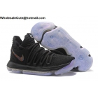 wholesale Mens Nike Zoom KD 10 Anniversary Black Basketball Shoes