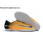 wholesale Mens Nike Mercurical Victory VI IC Yellow Black White Shoes