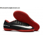 wholesale Mens Nike Mercurical Victory VI IC Black Red White Shoes