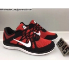 Mens Nike Free 4.0 Flyknit Black Red White Running Shoes