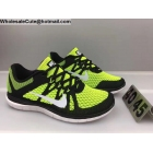 Mens Nike Free 4.0 Flyknit Black Volt White Running Shoes