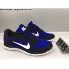 wholesale Mens Nike Free 4.0 Flyknit Black Blue White Running Shoes