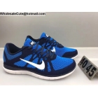 wholesale Mens Nike Free 4.0 Flyknit Blue Navy White Running Shoes
