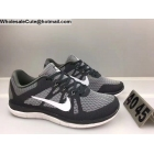 wholesale Mens Nike Free 4.0 Flyknit Grey White Running Shoes