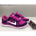 wholesale Womens Nike Free 4.0 Flyknit Purple White Running Shoes