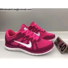 wholesale Womens Nike Free 4.0 Flyknit Pink White Running Shoes