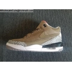 Air Jordan 3 Khaki Grey Cement Mens Basketball Shoes
