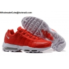 wholesale Nike Air Max 95 Ultra Essential Gym Red White Mens Shoes