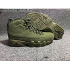 Air Jordan 9 Retro Suede Army Green Mens Shoes
