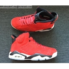 wholesale Air Jordan 6 Retro Red Suede Mens Shoes