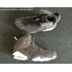 Air Jordan 6 Retro Grey Suede Mens Shoes