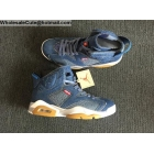 Levi's x Air Jordan 6 Blue Denim Mens Shoes