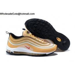 Nike Air Max 97 Ultra 17 Gold White Mens Shoes
