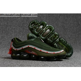 Undefeated 2018 Nike Air VaporMax 97 Army Green Mens Shoes