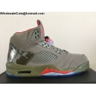 wholesale Mens Air Jordan 5 Camo Grey Army Green Red