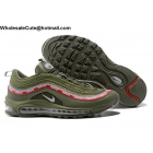 Mens & Womens Undefeated x Nike Air Max 97 Army Green