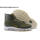 Mens Riccardo Tisci x NikeLab Air Max 97 Mid Army Green Gold White