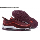 wholesale Nike Air Max 97 Ultra 17 Wine Red White Mens Shoes