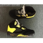 wholesale Air Jordan 5 Retro Oregon Ducks Black Yellow Mens Shoes